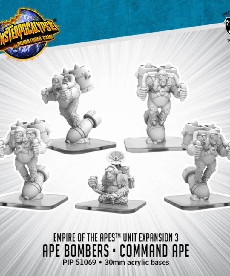 Privateer Press - PIP Monsterpocalypse - Empire of the Apes - Ape Bombers & Command Ape - Unit Expansion 3