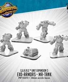 Privateer Press - PIP Monsterpocalypse - G.U.A.R.D. - Exo-Armors & Mr-Tank - Unit Expansion 3