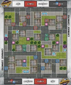 Privateer Press - PIP Monsterpocalypse - Accessories - Carnage Corners Playmat (NO REBATE)