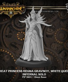 Privateer Press - PIP Warmachine - Infernals - Great Princess Regna Gravnoy, White Queen - Character Solo