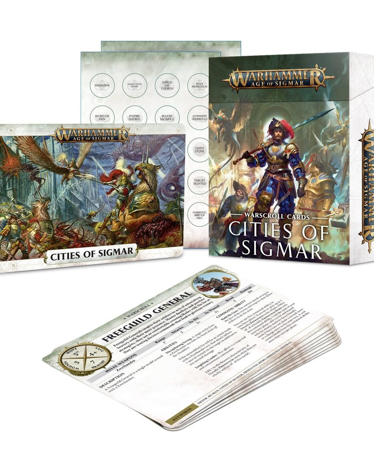 Games Workshop - GAW Warhammer Age of Sigmar - Warscroll Cards: Cities of Sigmar