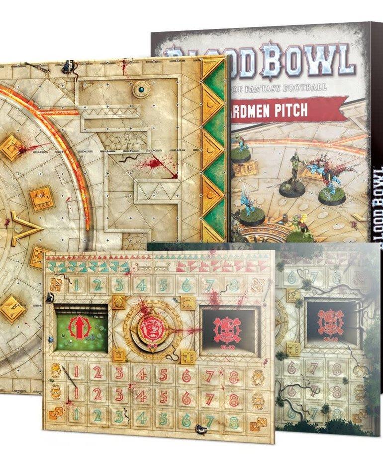 Games Workshop - GAW Blood Bowl - Lizardmen Team - Lizardmen Pitch