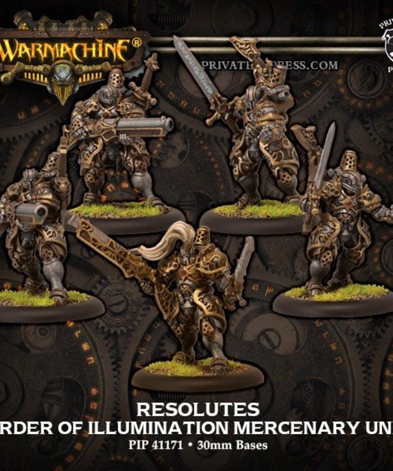 Privateer Press - PIP Warmachine - Mercenaries - Order of Illumination Resolutes - Morrowan Unit