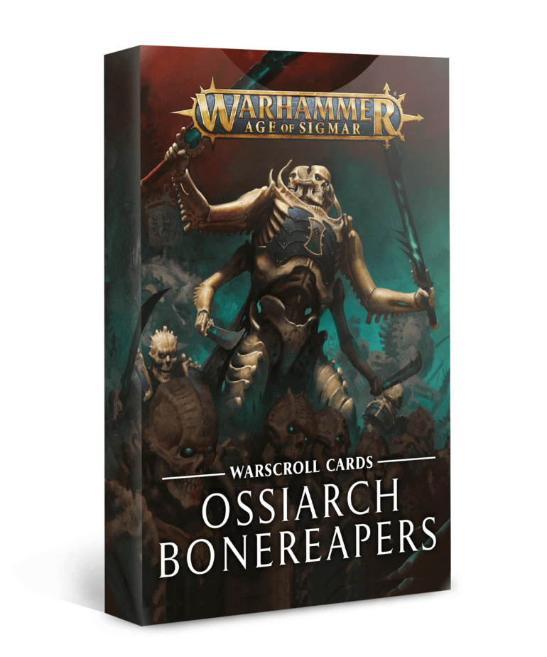 Games Workshop - GAW Warhammer Age of Sigmar - Warscroll Cards: Ossiarch Bonereapers