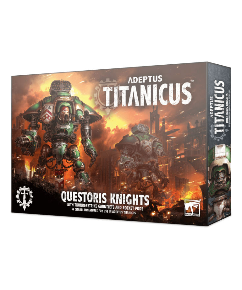 Games Workshop - GAW Adeptus Titanicus -Knights - Questoris Knights with Thunderstrike Gauntlets and Rocket Pods