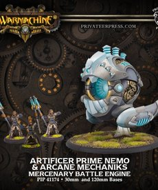 Privateer Press - PIP Warmachine - Mercenaries - Prime Artificer Nemo & Arcane Mechaniks - Battle Engine (Nemo 4)