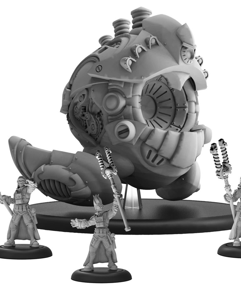 Privateer Press - PIP Warmachine - Mercenaries - Prime Artificer Nemo & Arcane Mechaniks - Battle Engine (Nemo 4)