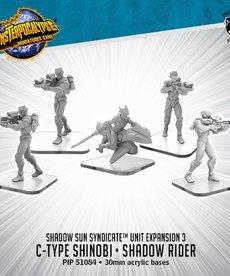Privateer Press - PIP Monsterpocalypse - Shadow Sun Syndicate - C-Type Shinobi & Shadow Rider - Unit Expansion 3