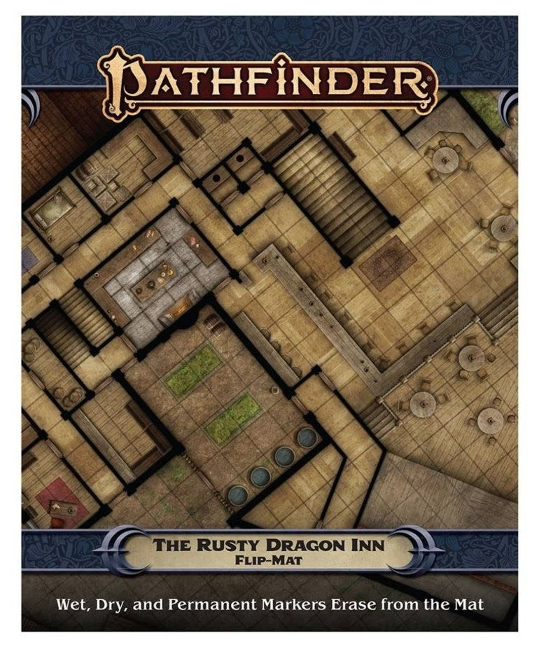 Paizo, Inc. - PZO Pathfinder 2E - Flip-Mat - The Rusty Dragon Inn