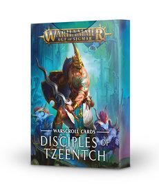 Games Workshop - GAW Warhammer Age of Sigmar - Warscroll Cards: Disciples of Tzeentch