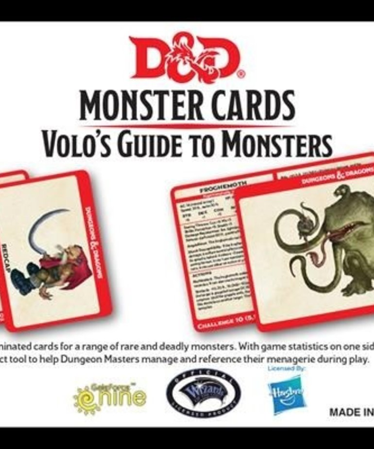 Gale Force Nine - GF9 D&D 5E - Monster Cards - Volo's Guide To Monsters