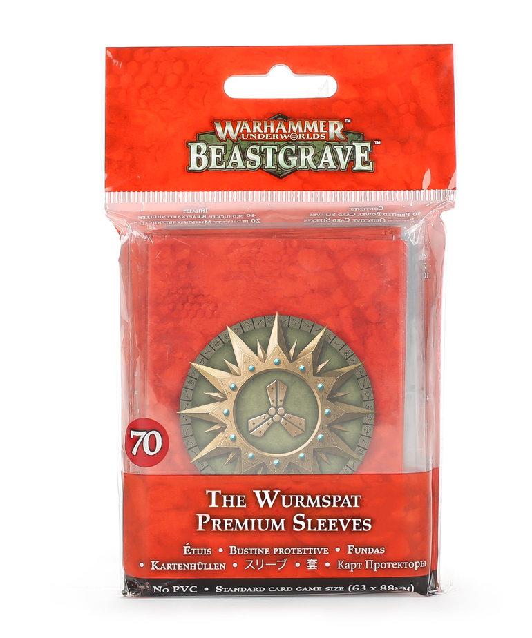 Games Workshop - GAW Warhammer Underworlds: Beastgrave - The Wurmspat - Premium Sleeves