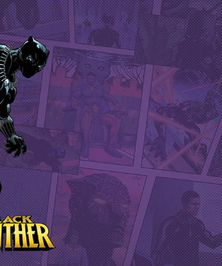 Fantasy Flight Games - FFG Marvel Champions: The Card Game - Black Panther - Game Mat