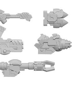 Privateer Press - PIP Warcaster: Neo-Mechanika - Aeternus Continuum - Scourge A - Weapon Pack (KICKSTARTER - NO REBATE)