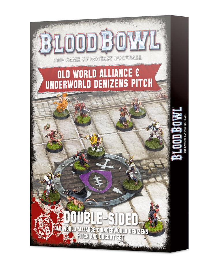 Games Workshop - GAW Blood Bowl - Old World Alliance & Underworld Denizens Pitch