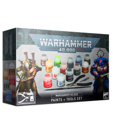 Games Workshop - GAW Paints + Tools Set -Warhammer 40K