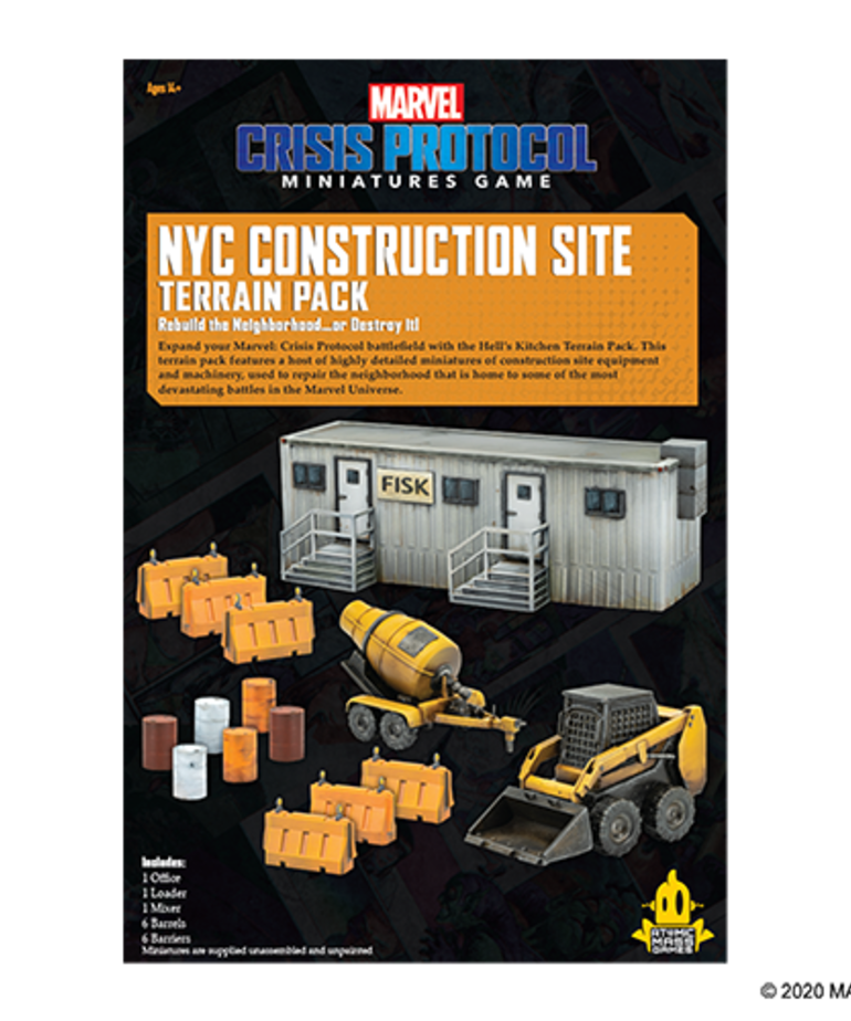 Asmodee - ASM Marvel: Crisis Protocol - NYC Construction Site - Terrain Pack