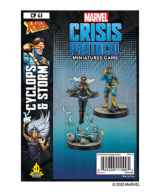 Asmodee - ASM PRESALE - Marvel: Crisis Protocol - Cyclops & Storm - Character Pack - 11/01/2020