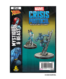 Asmodee - ASM PRESALE - Marvel: Crisis Protocol - Mystique & Beast - Character Pack - 11/13/2020
