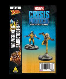 Asmodee - ASM PRESALE - Marvel: Crisis Protocol - Wolverine & Sabretooth - Character Pack - 11/01/2020