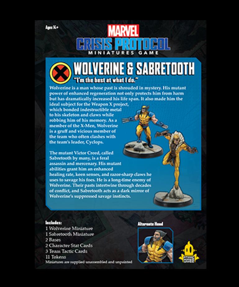 Asmodee - ASM Marvel: Crisis Protocol - Wolverine & Sabretooth - Character Pack
