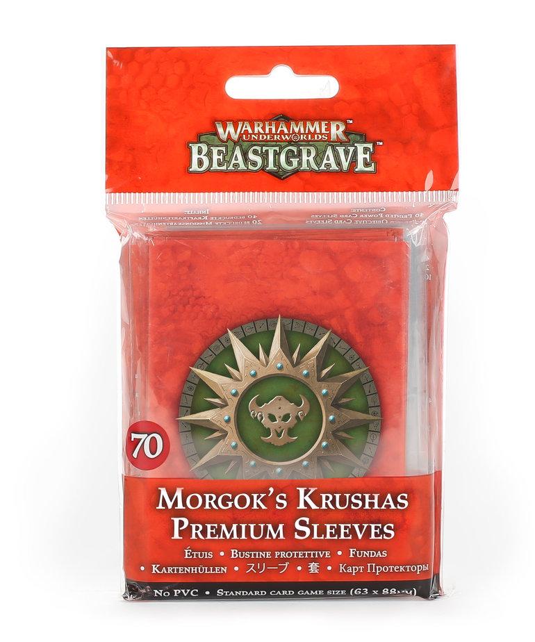 Games Workshop - GAW Warhammer Underworlds: Beastgrave - Morgok's Krushas - Premium Sleeves