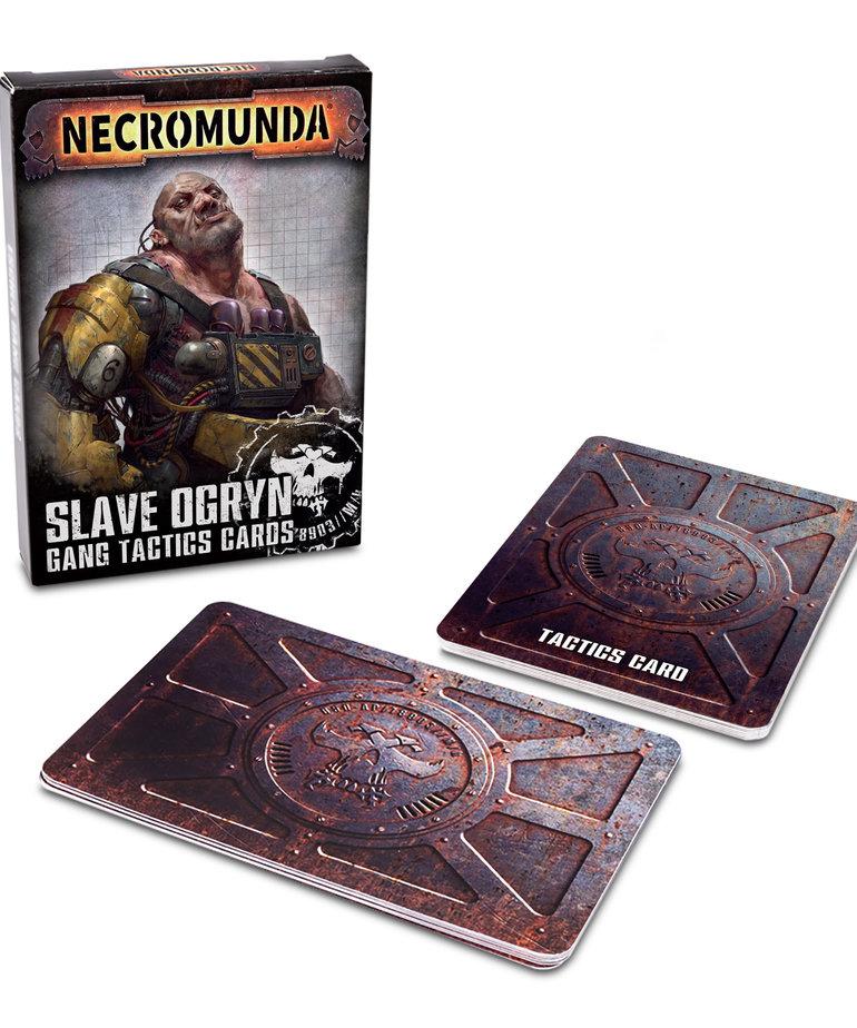 Games Workshop - GAW Necromunda - Slave Ogryn Gang Tactics Cards