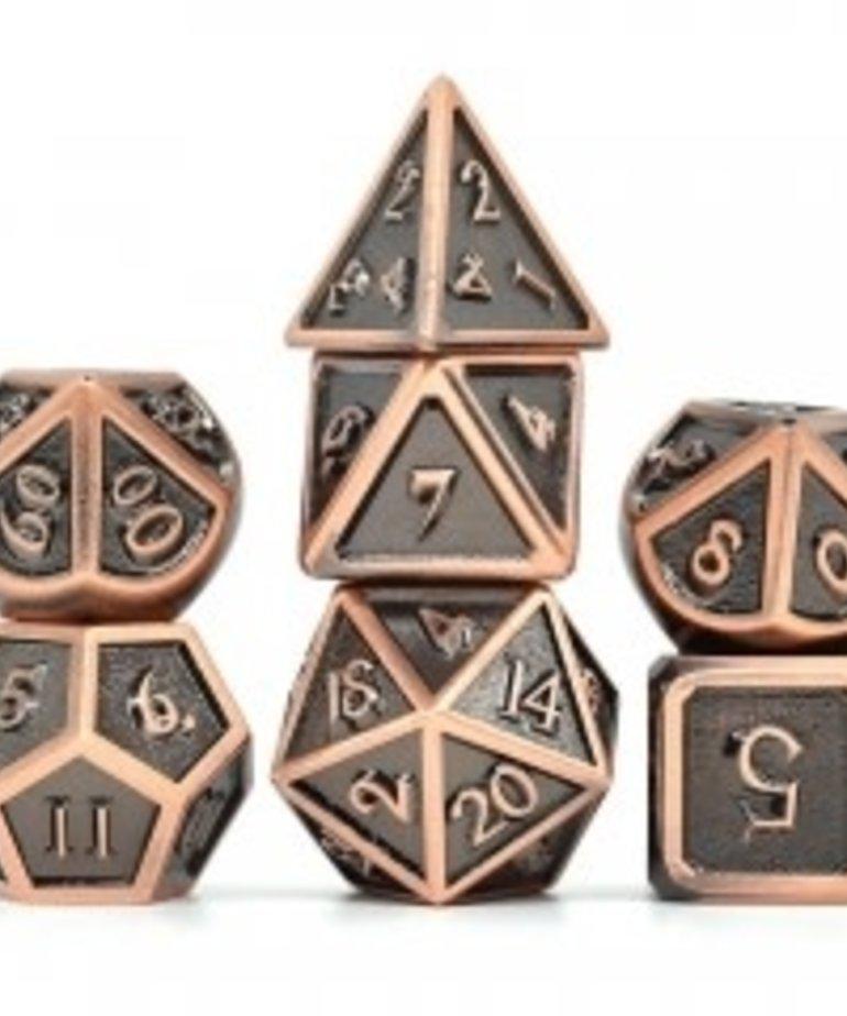 Udixi Dice - UDI Udixi: Dice - Polyhedral 7-Die Set - Ancient Metal - Copper