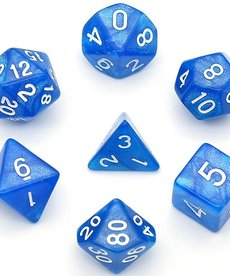 Udixi Dice - UDI Glitter - Blue/White Dice