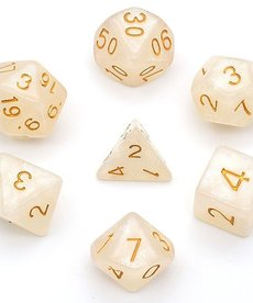 Udixi Dice - UDI Glitter - White/Gold Dice