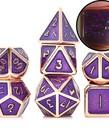 Udixi Dice - UDI Udixi: Dice - Polyhedral 7-Die Set - Glitter/Metal - Red Copper-Purple