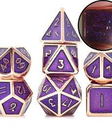 Udixi Dice - UDI Glitter/Metal - Red Copper-Purple Dice