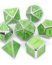 Udixi Dice - UDI Udixi: Dice - Polyhedral 7-Die Set - Glitter/Metal - Silver-Green