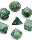 Udixi Dice - UDI Udixi: Dice - Polyhedral 7-Die Set - Jade - Black-Green/Gold