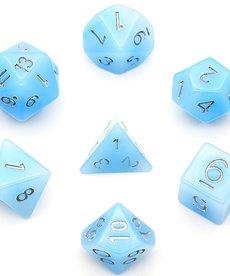 Udixi Dice - UDI Jade - Blue/Silver Dice