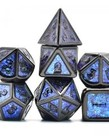Udixi Dice - UDI Udixi: Dice - Polyhedral 7-Die Set - Photosensitive Powder/Metal - Black-Blue-Green