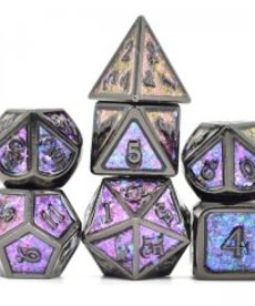 Udixi Dice - UDI Photosensitive Powder/Metal - Black-Purple-Blue-Golden Dice