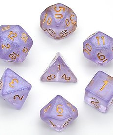 Udixi Dice - UDI Shimmer - Purple/Gold Dice