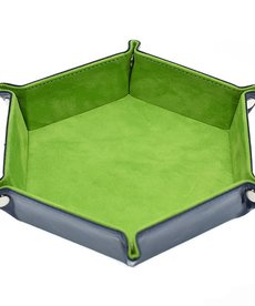 Udixi Dice - UDI Hexagon - Light Green Velvet Dice Tray
