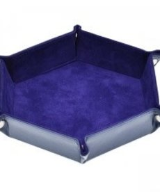 Udixi Dice - UDI Hexagon - Purple Velvet Dice Tray