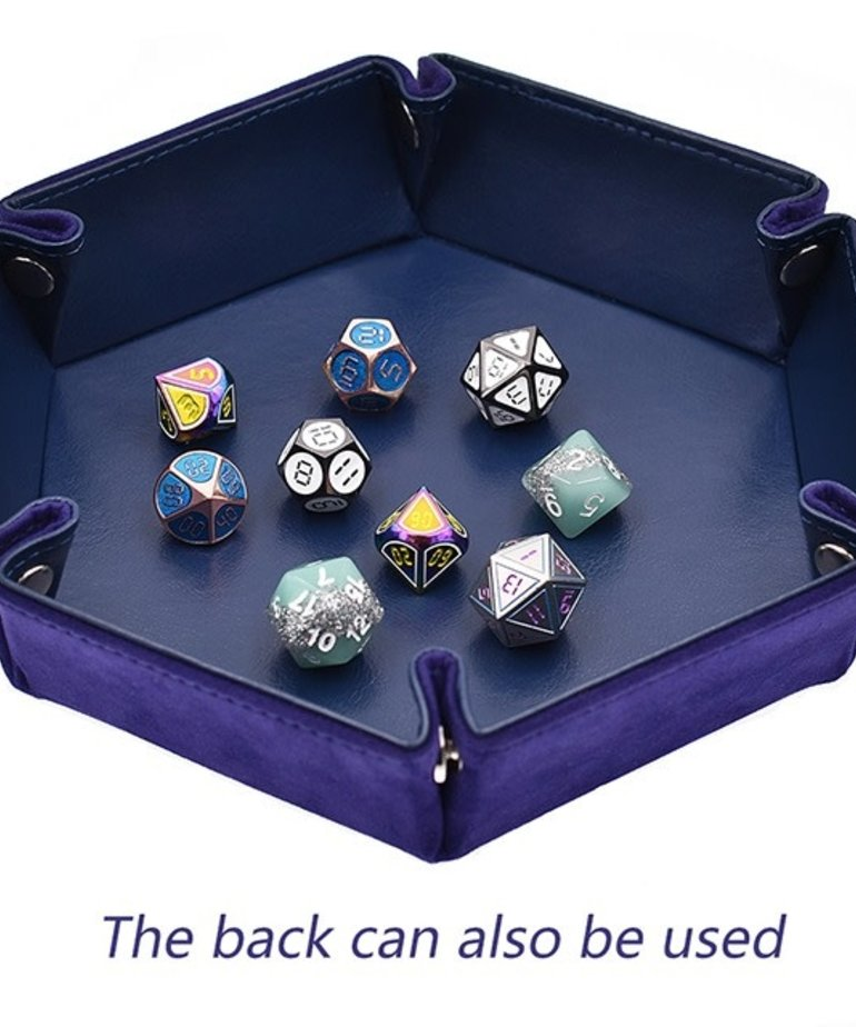 Udixi Dice - UDI Udixi: Dice Tray -  Folding: Hexagon - Purple Velvet