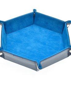 Udixi Dice - UDI Hexagon - Sky Blue Velvet Dice Tray
