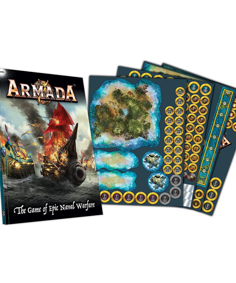 Mantic Entertainment, LTD - MGC Kings of War: Armada - Rulebook & Counters