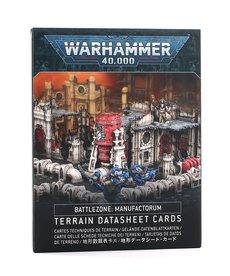 Games Workshop - GAW Battlezone: Manufactorum Terrain Datasheet Cards