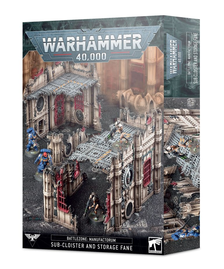 Games Workshop - GAW Warhammer 40K - Battlezone: Manufactorum - Sub-Cloister & Storage Fane