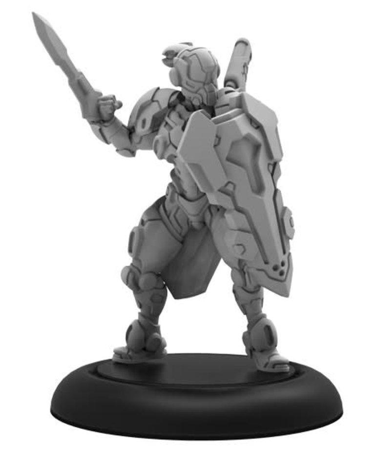 Privateer Press - PIP PRESALE - Warcaster: Neo-Mechanika - Iron Star Alliance - Paladin Commander - Solo / Hero - 11/06/2020