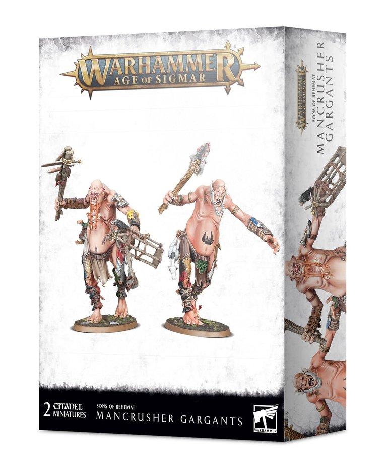 Games Workshop - GAW PRESALE - Warhammer Age of Sigmar - Sons of Behemat - Mancrusher Gargants - 10/17/2020
