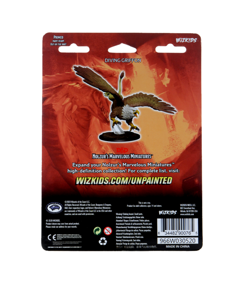 WizKids - WZK D&D: Nolzur's Marvelous Unpainted Miniatures - Diving Griffon