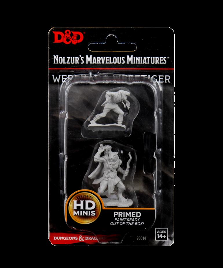 WizKids - WZK D&D: Nolzur's Marvelous Unpainted Miniatures - Wererat and Weretiger