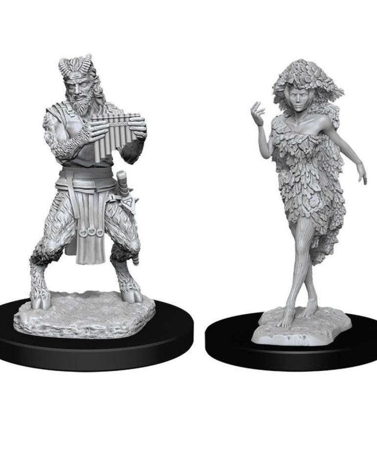 WizKids - WZK D&D: Nolzur's Marvelous Unpainted Miniatures - Satyr & Dryad